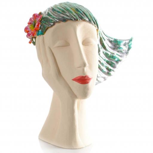 Art Deco Head | Teal