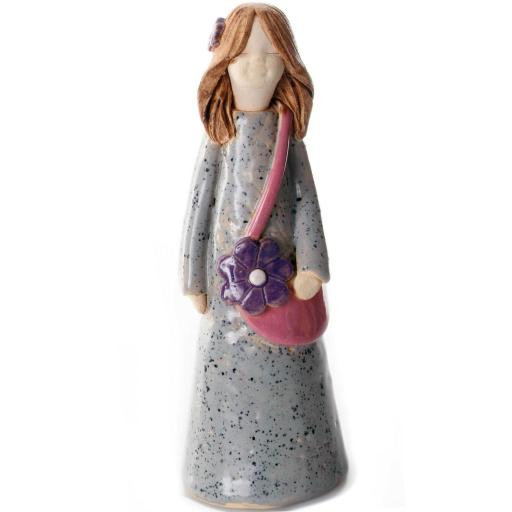 Handbag Holding Ceramic Statuette   Chanel Girl