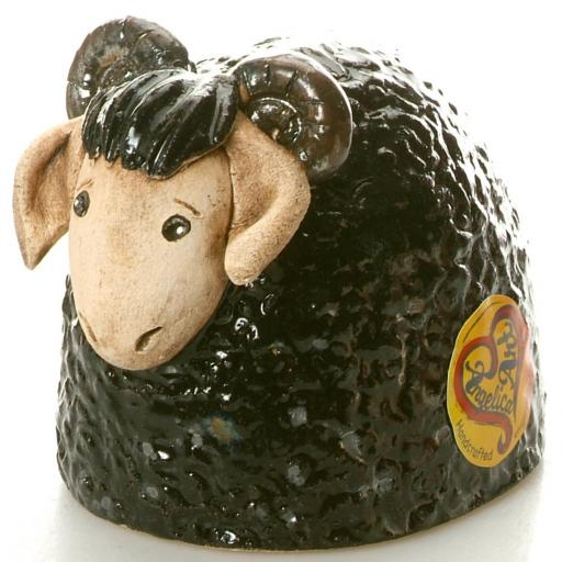 Ceramic Ram Figurine | Black