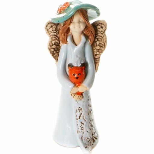 Guardian Angel Figurine with a Sentiment Card | Home is where the Cat is | Set of 3 Asst Col