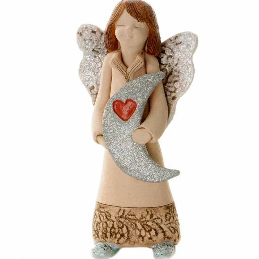 Guardian Angel with Sentiment Card | I Love You to the Moon and Back