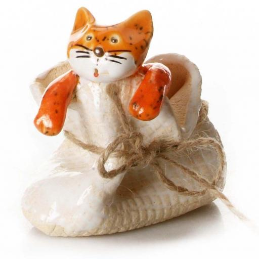 Quirky Cat in a Sack Ornament | Ginger Cat