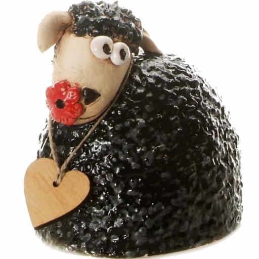 Ceramic Sheep Ornament | Black