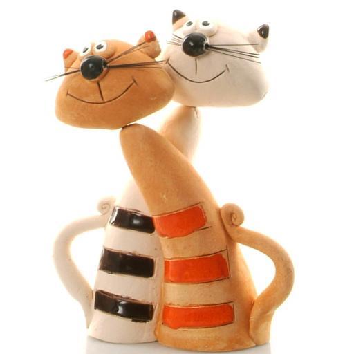 Ceramic Cat Lovers Ornament | Ginger | Good Friends