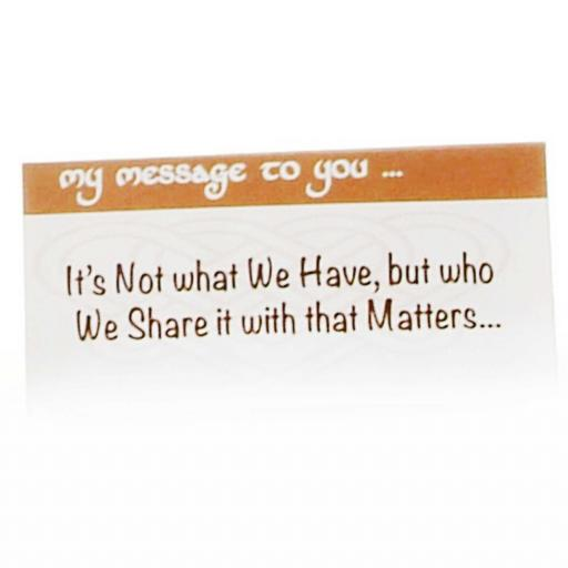 It's not what we Have, but who we share it with that Matters