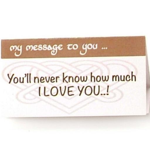 You will never know how much I Love You...!