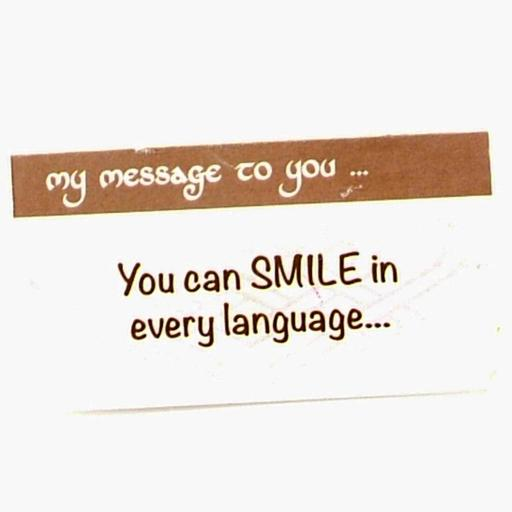 You Can Smile in every Language