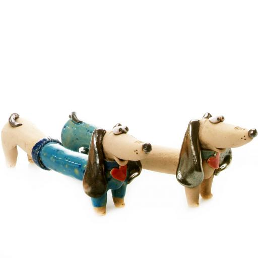 Mr & Mrs Dash Quirky Dachshunds Wedding Gift | Blue