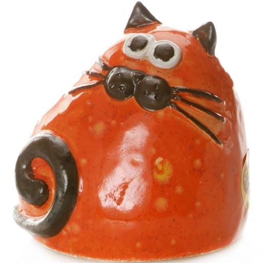 Ceramic Chubby Cat Ornament | Ginger