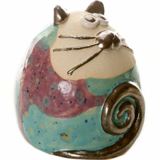 Ceramic Tabby Fat Cat Ornament   8 Colours