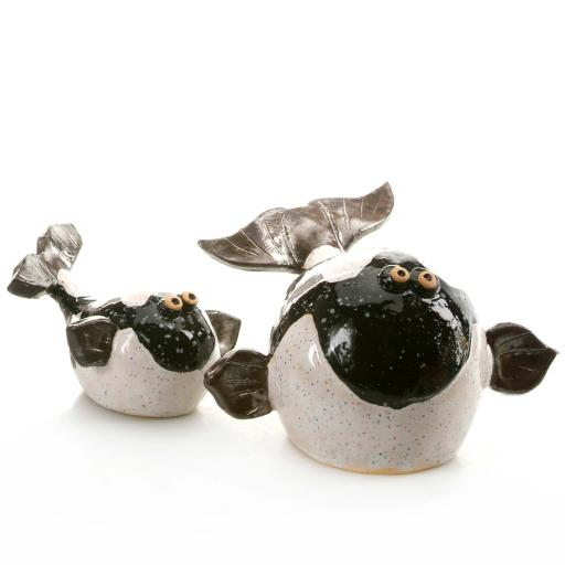 Smiling Ceramic Whale Small | 10 Colours