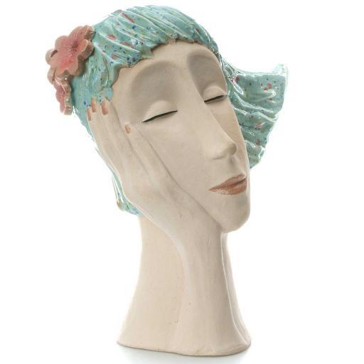Art Deco Head | Turquoise