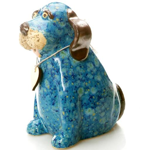 Puppy Dog with Messaging Wooden Heart   8 Colours