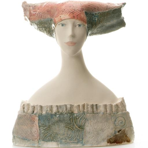 Ceramic Statue Woman Bust In Decollated Dress | Room Décor Sculpture